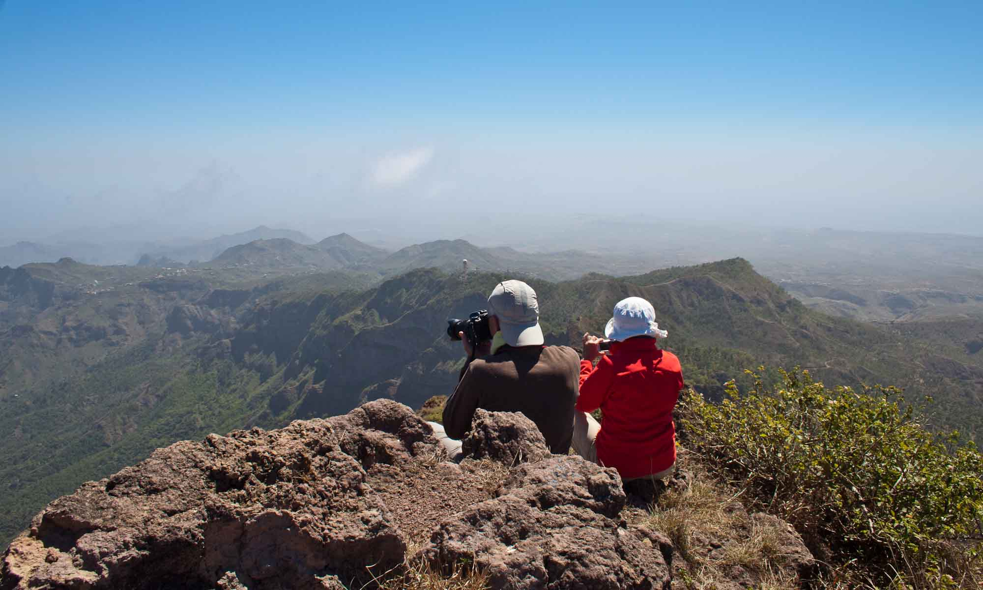 Bijna op de Pico d'Antonio met gigantische vergezichten rondom!
