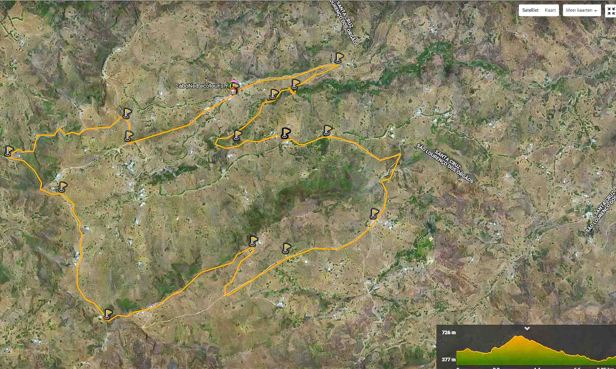 Routes van CaboNed op Wikiloc