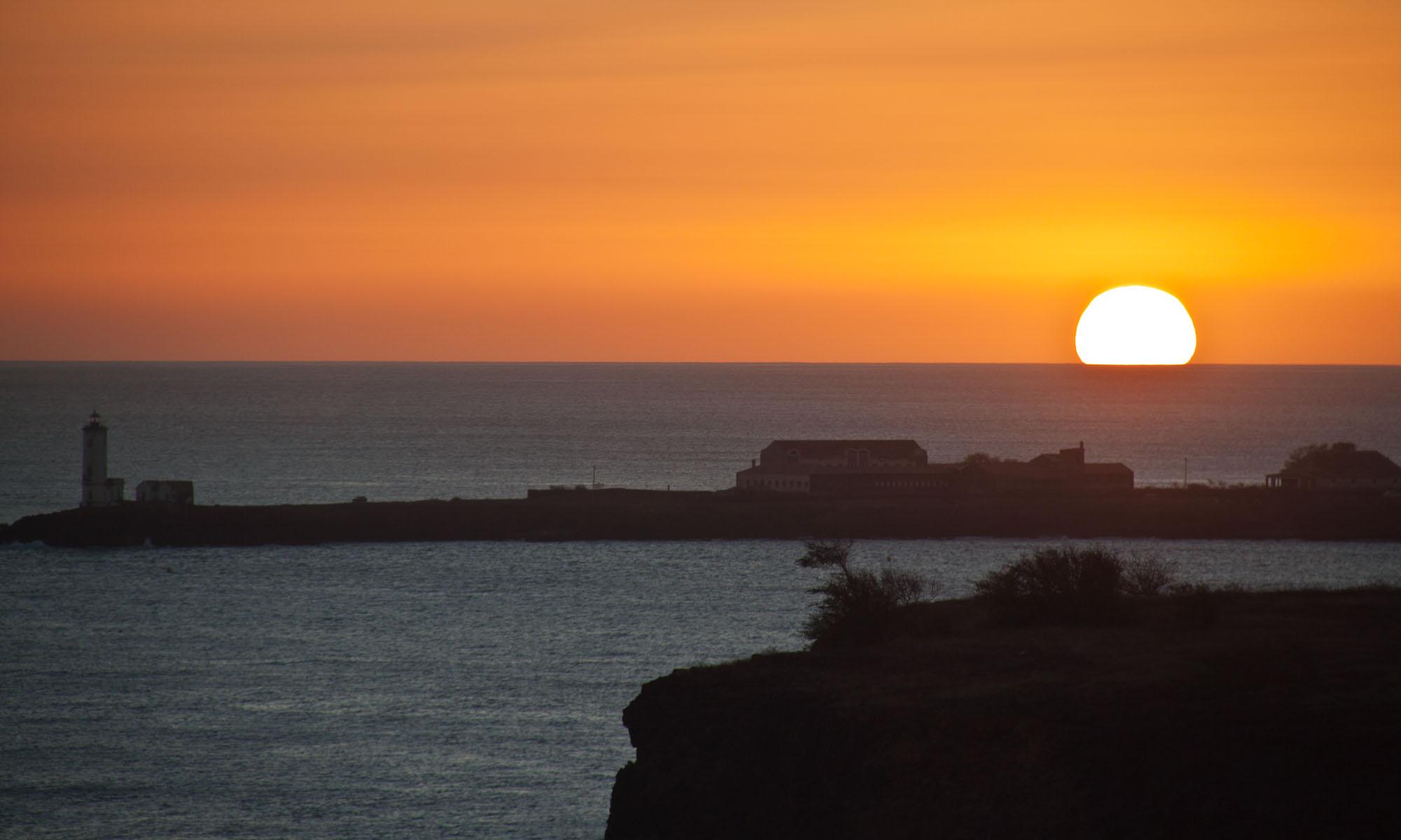 Zonsondergang Praia